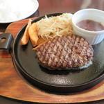 ごちそうお肉ビストロ くう海 - 国産牛ハンバーグセット