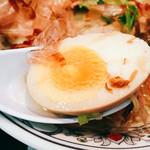 にぼらや -  茹で卵は逆に芯が少しとろみのある茹で加減で良いですね~