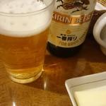 吉川亭 - ビールは水なのだ( ・´ー・`)