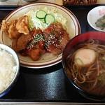 とんかつ和幸 - とんかつ和幸 ビッグハウス店@釧路 週替わりランチ・ザンギ、メンチ、チリソース