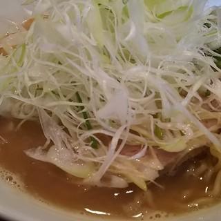 麺や 麗 - 料理写真:しょうゆ大盛+ネギ