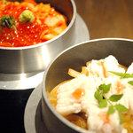 大人輝 - 旬の食材を釜飯に♪最初はそのままで、後で特製スープでお茶漬けに★〆に絶品!