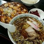 紅花 - 麻婆定食ラーメン付き:850円
