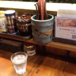 つけ麺 紫匠乃 - カウンターセット