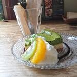 Cafe-nee - ケーキセットのチーズケーキ(今回は抹茶でした♪)