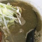 白菜タンメン楽観 - 煮干しスープ