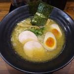 麺屋 勝道 - 濃厚醤油鶏白湯SOBA味玉入り