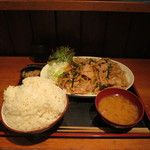 上州屋 - 豚バラガーリックみそ焼肉定食W(ご飯700g)