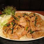 上州屋 - 豚バラガーリックみそ焼肉W(肉360g)アップ