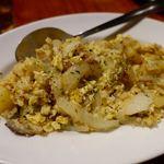 カフェ・ド・セントロ - バカリャウ・ア・ブラス こちらも干し鱈の塩分が旨い卵とじ