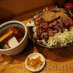 里のうどん - バラ丼特盛りセット(¥1,410)