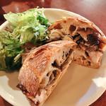55813081 - 舞茸チキンのサンドイッチ パンはチャバタで。