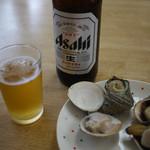 水沼さざえ店 - ビール&浜焼き~☆
