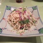 浅野 - 「押し豆腐と野菜の葱ソース」