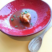 赤海老の蓮根饅頭