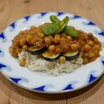 CAFE すずなり - ひよこ豆とたっぷり野菜のキーマカレー(950円)