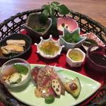 粟 - 大和野菜の籠盛り