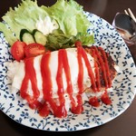 結工房 - 料理写真:ロコモコ丼 700円 2016/09