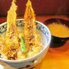 天婦羅 あぶら屋 - 料理写真:あなご天丼 味噌汁