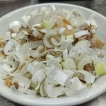 中華そば みたか - チャーシュー皿はネギがたっぷり