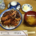 天ぷら 中山 - 天丼蓋を開け後