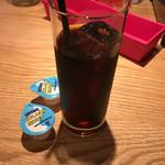 ピッツェリアバー YUME  - ランチセットのアイスコーヒー