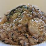 クッカーニャ - ひじきと小エビの玄米リゾット、クリームソース