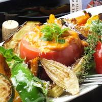 オマール海老風味濃厚トマトチーズフォンデュ