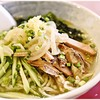 ラーメン鶴 - 料理写真:冷たいラーメン 800円 ちょっと色合いが地味かな~。