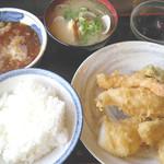 天ぷら 大吉 - 店長おすすめセット(800円)