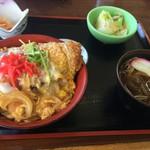 須川高原温泉 - カツ丼と蕎麦のセット