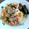 カプリチョーザ - 料理写真:イタリア産カラスミを散らした魚介のペペロンチーノ(1,180円)