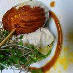 Ristorante Cornetto - 料理写真:さつまいものくるくるチュロス錦爽鶏のムース添え
