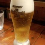 つけ麺 紫匠乃 - グラスビール(280円)