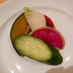 55978399 - 季節野菜のアンチョビソース