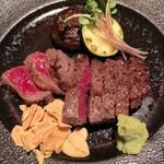 55981137 - ランプ肉のステーキ。美味しかったな〜♫