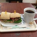 茶るら - コーヒーと味噌マヨサンド