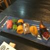 喜多郎寿し - 料理写真:ある日のお任せ6貫 とろ、芽ねぎ、たまご、さんま、うに、うなぎ