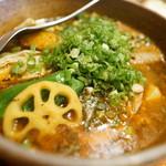 ピカンティ - ネギ豚キーマ(薬膳スープ