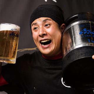 お酒が大好き店長♡飲み放題は地域最安値の980円(税別)!!