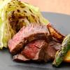 えんがわ - 料理写真:黒毛和牛炙り 焼野菜添え