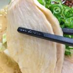 らーめん れんげ - 限定「鶏白湯味噌らーめん」800円(チャーシュー)