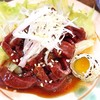 弁慶  - 料理写真:牛ハツユッケ。美味しいけど、大体5切れくらいつながっている。