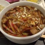 肉蔵でーぶ - つけ麺のつけ汁