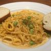 ブリックカフェ - 料理写真:パスタランチの枝豆といかのウニクリームパスタ