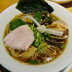 むぎとオリーブ - 特製 鶏・煮干・蛤のトリプルSOBA