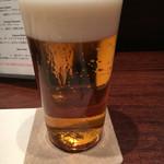 西心斎橋 ゆうの - ビールのグラスは薄張りです(^ ^)