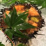 西心斎橋 ゆうの - 先付けの雲丹、美味しかったな〜!