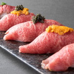 焼肉とワイン 李苑 - お好みの肉寿しを!