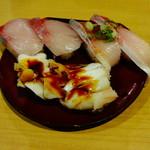 穴場 - ぶりポン酢194円、ゲソ93円、はまち297円